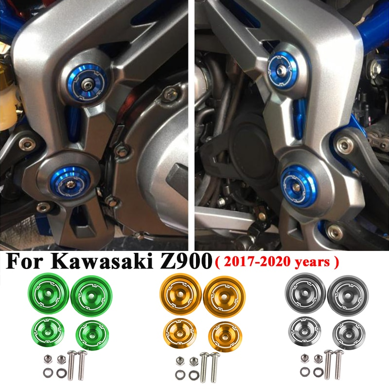 For Kawasaki Z900 2017 - 2020 Motorcycle Accessories CNC Aluminum Frame Hole Cover Frame Hole Cap Cover Plug Bolt Screw Cover