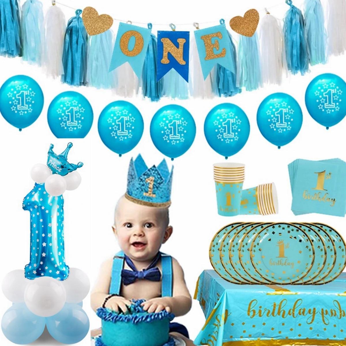 AliExpress - One Year Birthday Boy Baby Shower Birthday Party Decoration 1st Birthday Party Supplies 1 Year Old Crown 1 Birthday Decor