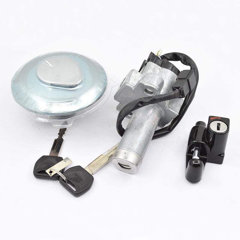 Cubierta de combustible de encendido de motocicleta, conjunto de bloqueo de casco para Honda XR 125 L XR125 XR 150 XR150 2014-2018, piezas originales