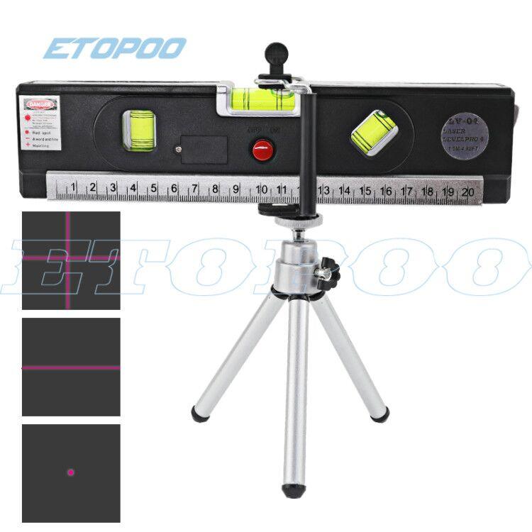 Regla de líneas de marcado láser, alineador de cinta de medición Vertical, niveles de láser, 5 en 1