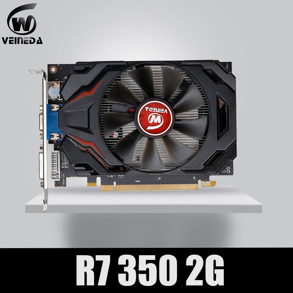Veineda-بطاقة رسومات ألعاب ATI Radeon ، بطاقة رسومات GDDR5 2 جيجابايت ، منفذ DVI DP لألعاب ATI Radeon ، R7 350