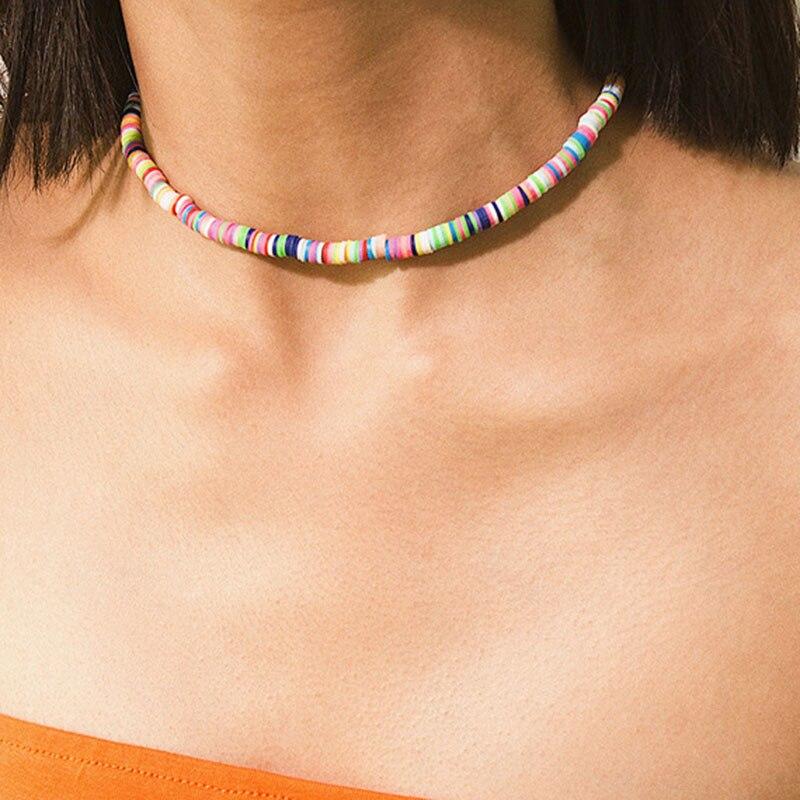 Colar de praia de bohemia multicolorido de verão bohemia na moda
