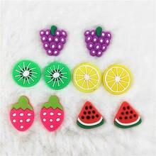 30pcs/pack Fruit Flower Animal Polymer Clay DIY Slice 3D Nail Art Decoration Nail Sticker