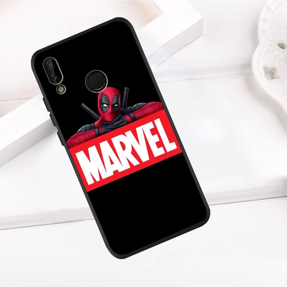Marvel vengadores para Huawei P8 P10 P20 P30 Mate 10 20 Honor 8 8X 9X 8C 9 V20 30 10 Lite Plus Pro cubierta de la caja del teléfono de coque patrón