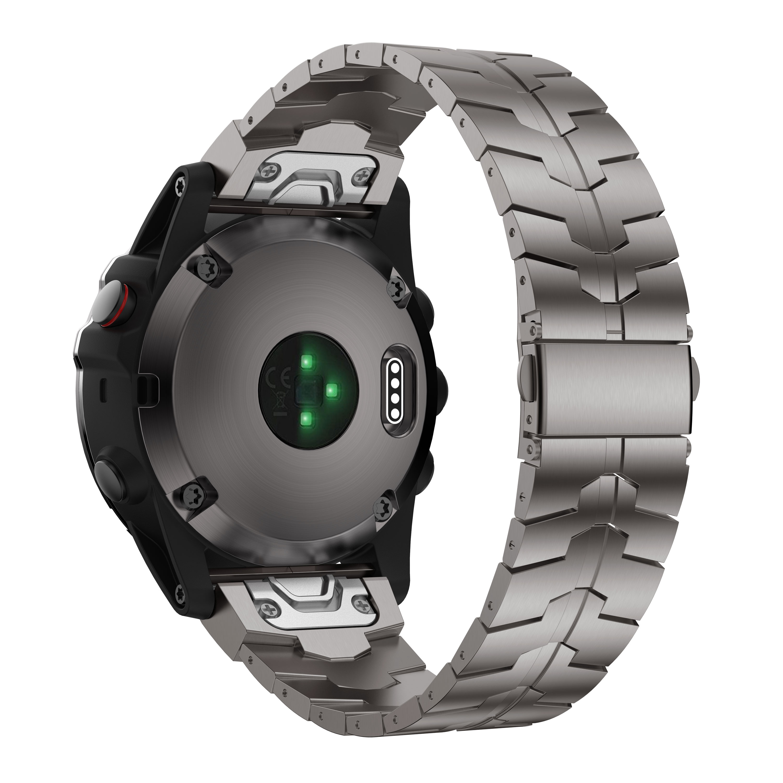 Gorpin fenix 6s banda, 20mm titanium metal ajuste rápido pulseira de relógio para garmin fenix 5S plus, fenix 6s pro pulseira, dlc prata