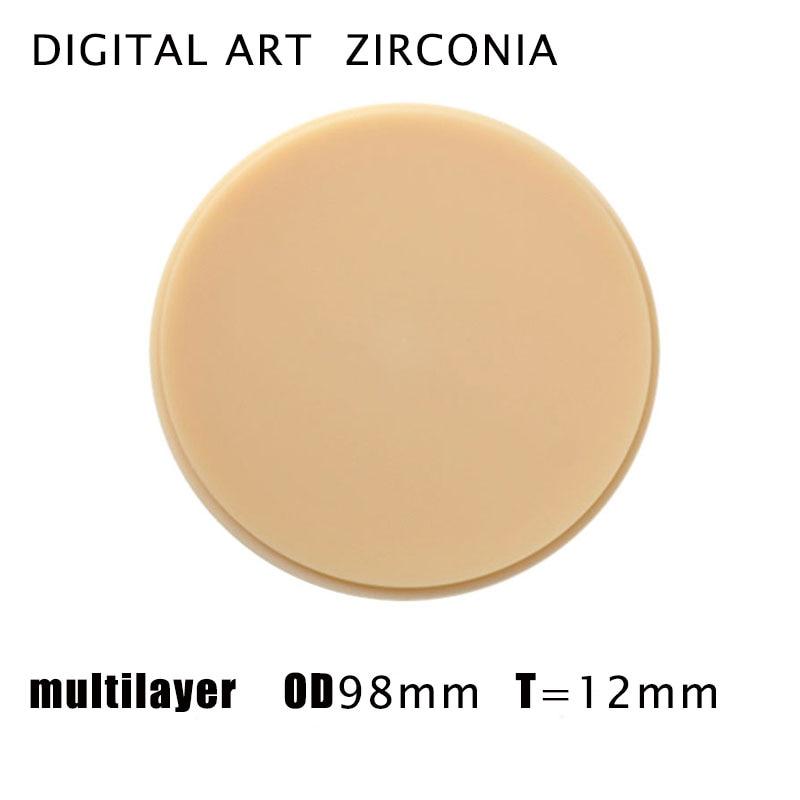 Digitalart sistema de zirkonzahn máquina de trituração dental multilayerpmma discos espessura PMMAML98mm12mmC1-D4