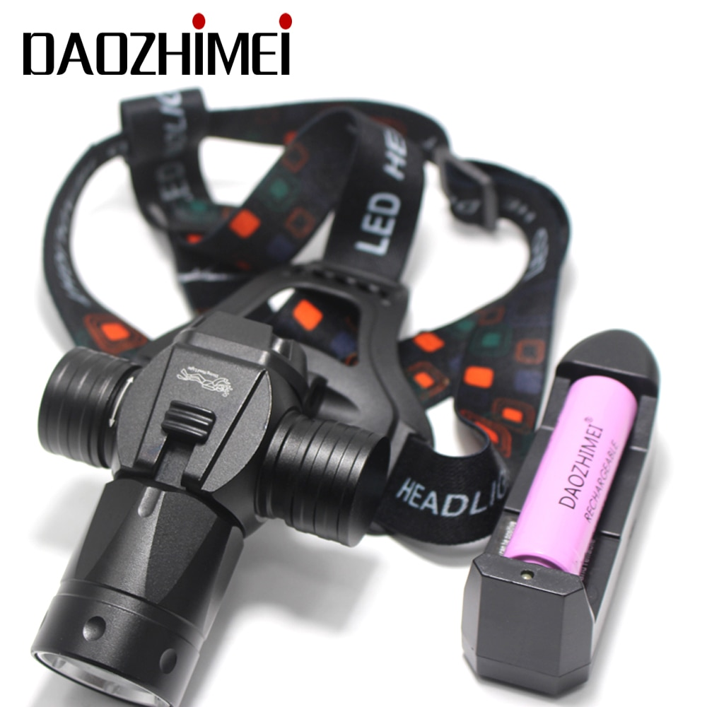 5000 lumen Underwater 100M diving Headlights XML L2 scuba diving flashlight Stepless Dimming 18650 Fishing Fill light