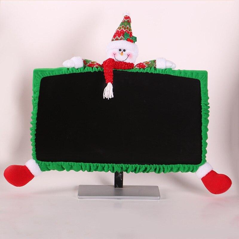 Bonita funda de muñeca decorativa 3D para Monitor de ordenador de Navidad, pantalla para portátil, funda protectora a prueba de polvo para Monitor, decoraciones Kerst 2020