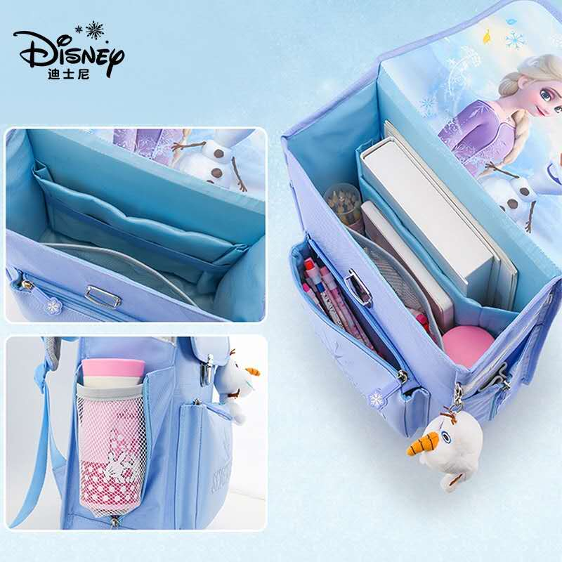 Disney Frozen School Bags For Girls Elsa Anna Primary Student Shoulder Orthopedic Backpack Large Capacity Grade 1-5 Kids Gifts enlarge