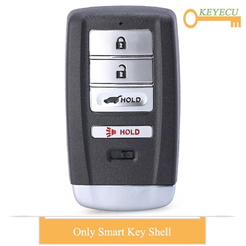 Keyecu smart prox carro de controle remoto chave do escudo capa para acura mdx rdx ilx tlx 2014-2019, fob 4 botões-fcc id kr5v1x