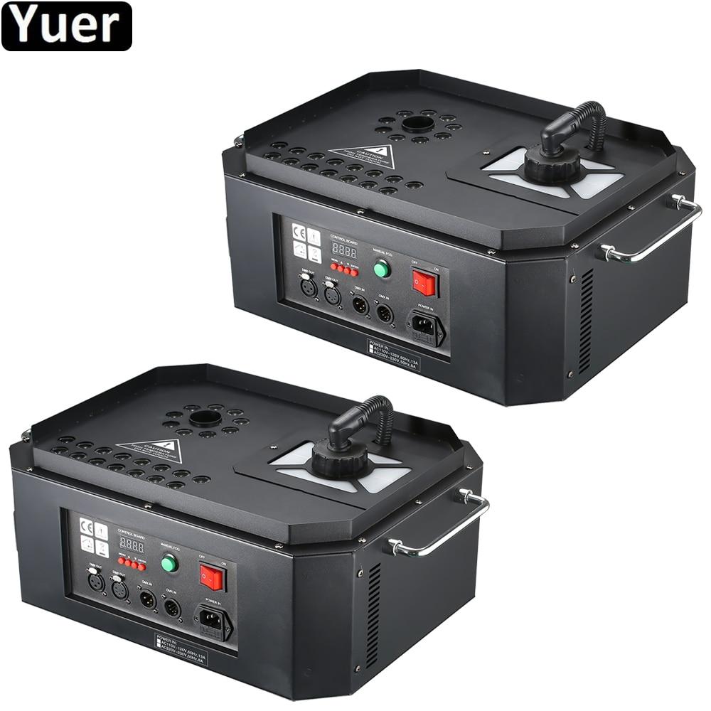 2 unids/lote 1800W máquina de chorro LED 24x3W RGB Color LEDs máquina de humo nebulizador equipo para DJ KTV fiesta escenario iluminación