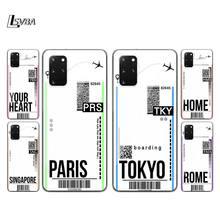 Voler Billet Paris Tokyo Pour Samsung S20 FE Ultra Plus A91 A81 A71 A42 A51 5G UW A41 A31 A21 A21S A11 A01 Étui de Téléphone