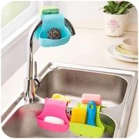 1pcs plastic double sink caddy saddle style kitchen organizer storage sponge holder tool drain basket rack kitchen accessories
