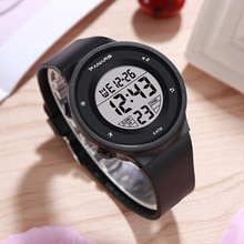 Children's Digital Watch Waterproof Student Sports Watch Silicone Strap Colorful Luminous Children's