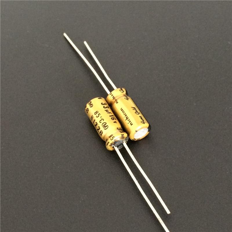 5pcs/50pcs 33uF 16V NICHICON FG(Fine Gold) 5x11mm 16V33uF Muse Top Grade Audio Capacitor