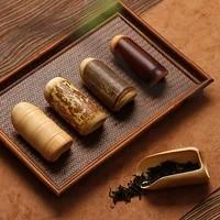 old coal bamboo tea tea spoon tea box natural bamboo zen kungfu tea japanese handmade tea ceremony six gentlemen suit