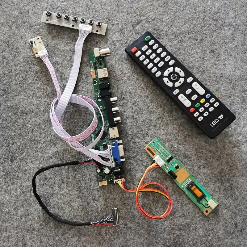 1024*768 DIY kit display LCD panel drive controller board LVDS 20Pin VGA USB AV 1-CCFL For LP121X1/LP121X04/LP121X05 matrix