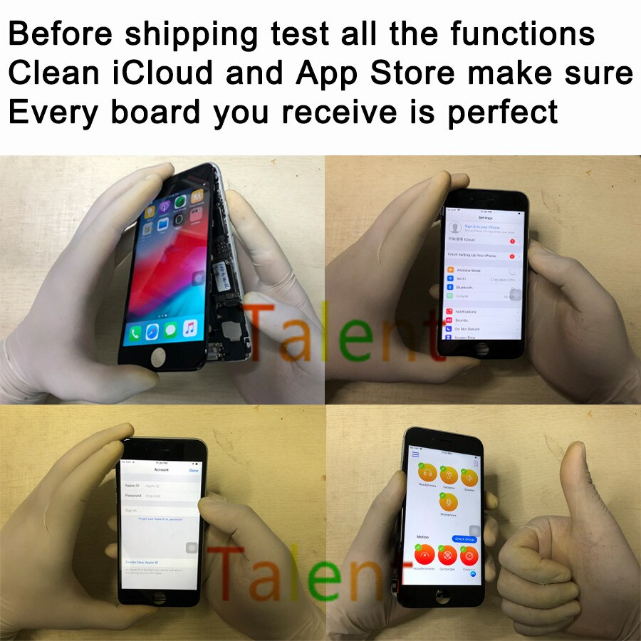 For IPhone 7 Motherboard 256GB Gold Touch ID Home Button Unlocked Original Mainboard Good Working Logic Board Tested Functions enlarge