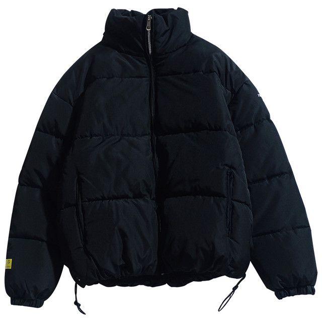 Новинка 2021, Мужская однотонная парка, Качественная мужская теплая Толстая куртка с воротником-стойкой, Мужская модная повседневная парка