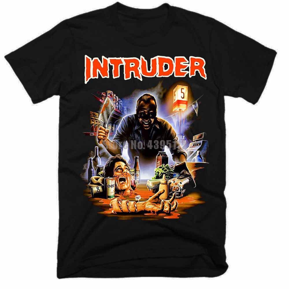 Camiseta Casual de intruso Man, camiseta Geek, camiseta gótica, camisetas de gimnasio, Tops de verano Puhmce