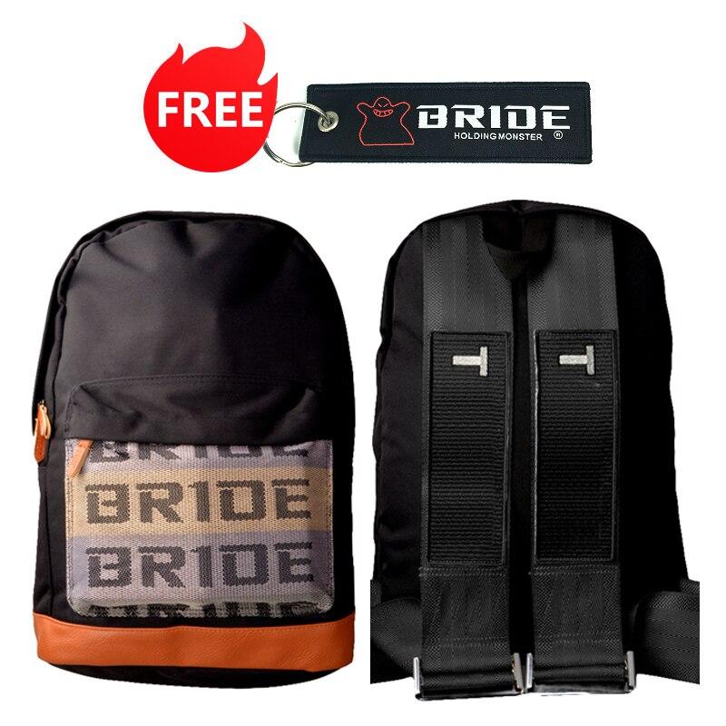 Estilo JDM de tela Correa estilosa la escuela mochila coche lona mochila bolso novia de recuerdos