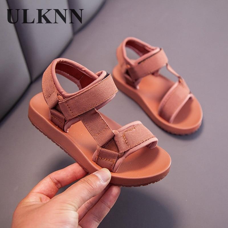 Сандалии ULKNN для мальчиков, детские сандалии, детская обувь, резиновая школьная обувь, дышащие сандалии с открытым носком, повседневные сандалии для мальчиков Сандалии    АлиЭкспресс