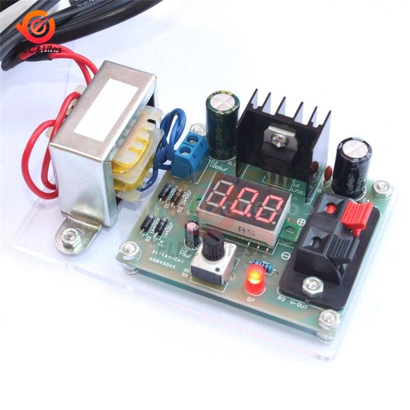 LM317 regulador de voltaje CC ajustable CA 220V 110V a 12V paso abajo fuente de alimentación transformador módulo Diy kit Volt convertidor placa