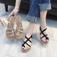 womens flat sandles fashion sports woman flat shoos free shipping female summer new 2021 braid beach shoes 35 36 37 38 39 40