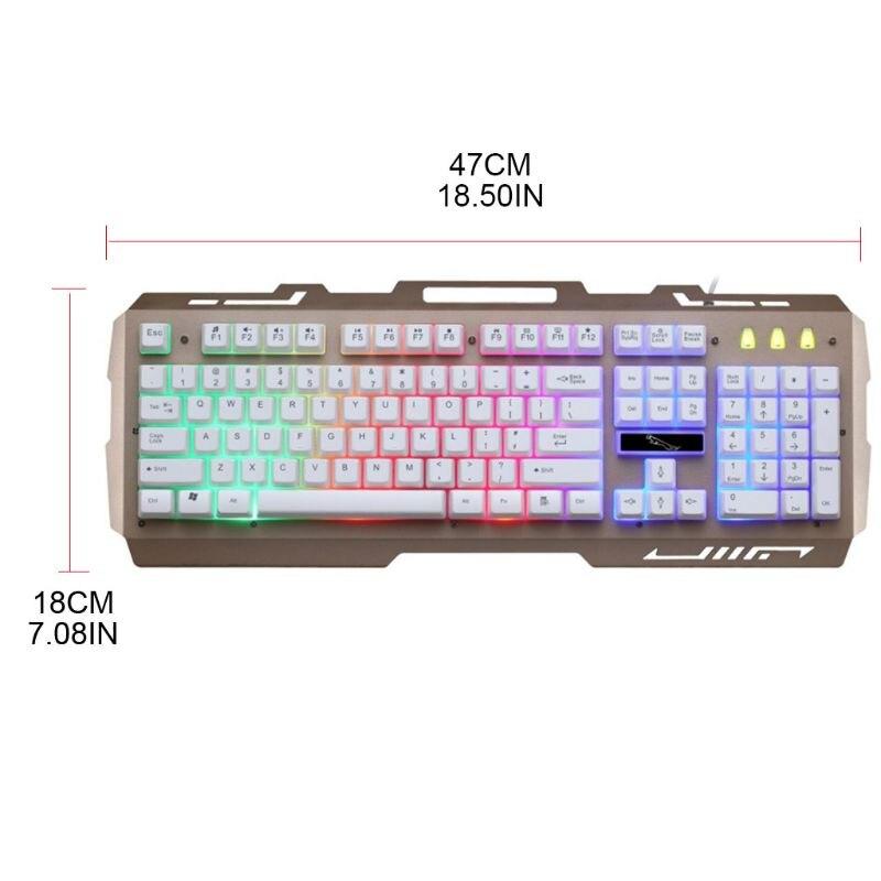 Teclado de jogos com fio usb rgb colorido led backlit computador gaming keyboad