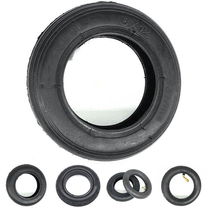 Шина для электроскутера 6 дюймов, внутренняя труба, мини-аккумулятор, автомобильные шины 6*1 1/4, утолщенные резиновые шины, черные