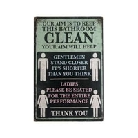 toilet bathroom garage rustic vintage metal tin signs man cave bar home decoration