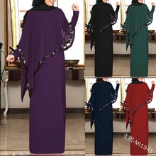 Mousseline de soie musulmane Abaya Kimono Hijab robe Cape arabe dubaï femmes africaines Pakistan Caftan Marocain Caftan Qatar vêtements islamiques