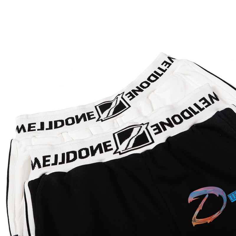 We11done Rainbow Sweatpants Men's Women's Letters Splash Ink Printing Sports Pants Welldone Casual Loose Couples Trousers