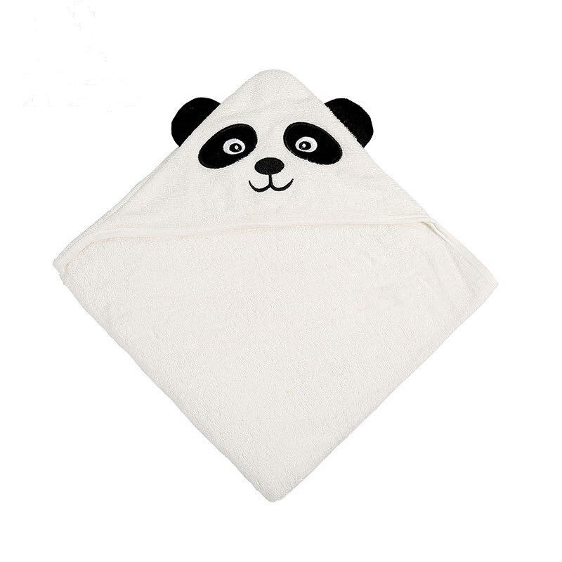 Bebé con capucha de toalla de baño de algodón lindo Panda bambú FIBRA DE abrazo manta niños con capucha playa capa