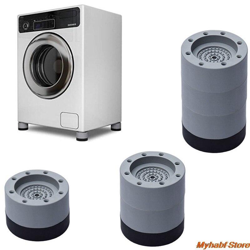 4pcs Universal Anti Vibration Feet Pads Washing Machine Rubber Mat Anti-Vibration Pad Dryer Refrigerator Base Fixed Non-Slip Pad