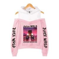 juice wrld hoodies women sweatshirts hooded hip hop fashion casual hoodie juice wrld black pullovers