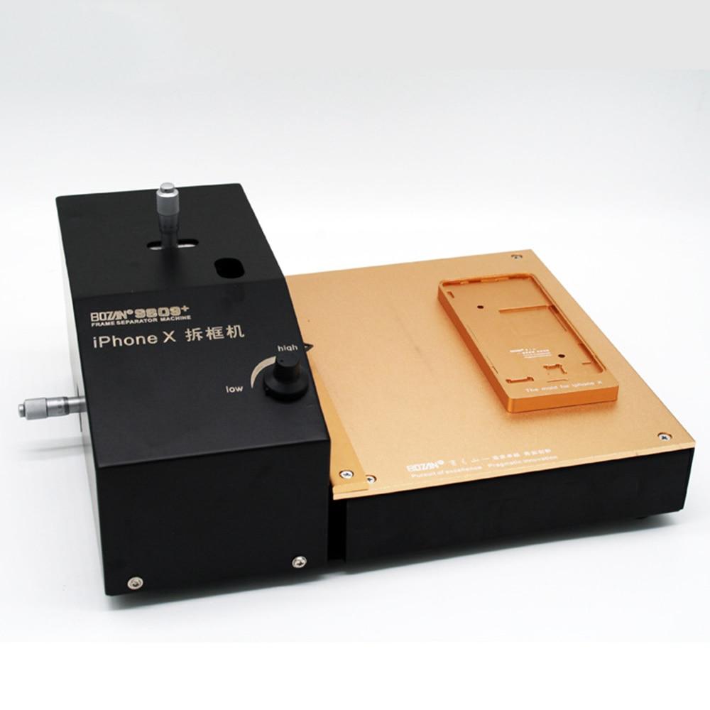 متعددة الوظائف حامل شاشة الهاتف المحمول فاصل إطار آلة إزالة إزالة المعدات BOZAN 9809 + ل Ip X XS XR