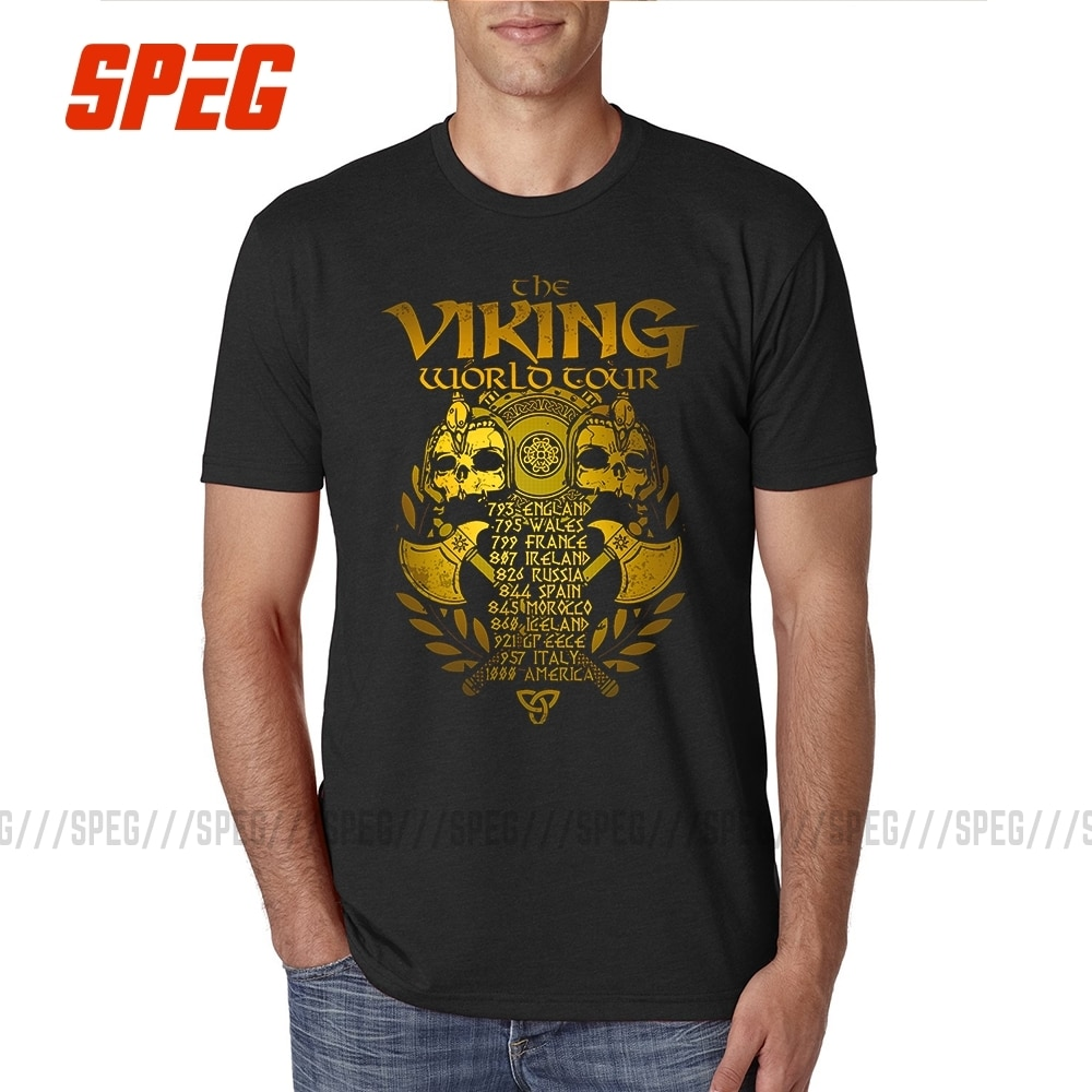 T חולצה ויקינגים חדש זהב אגדות Valhalla נוער כותנה קצר שרוול Tshirs מכירה לוהטת חולצה גברים בציר הדפסת גדול גודל