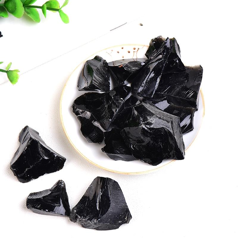 Natural Stone Obsidian Crystal Gravel Irregular Shape Specimen Repair Rock Mineral Healing Stone Gift Home Decor Reiki Aquarium недорого