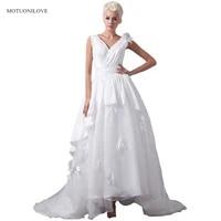 vestido de boda 2019 v neck handmade flowers a line wedding dresses princess wedding gowns country bride dress buy china direct