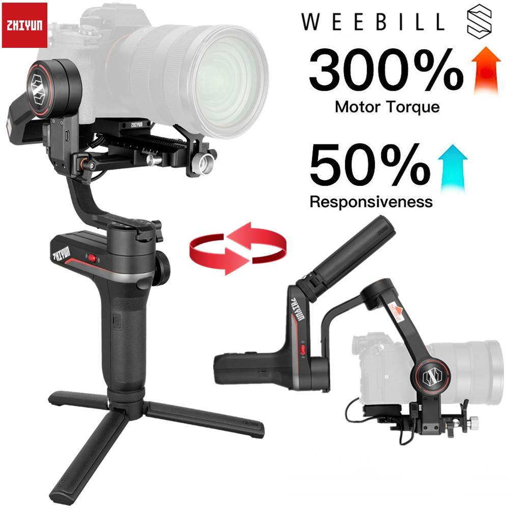 Zhiyun weebell S, LAB 3-Axis مثبت أفقي للمرآة و كاميرات DSLR مثل سوني A7M3 نيكون D850 Z7, 300% موتور محسن