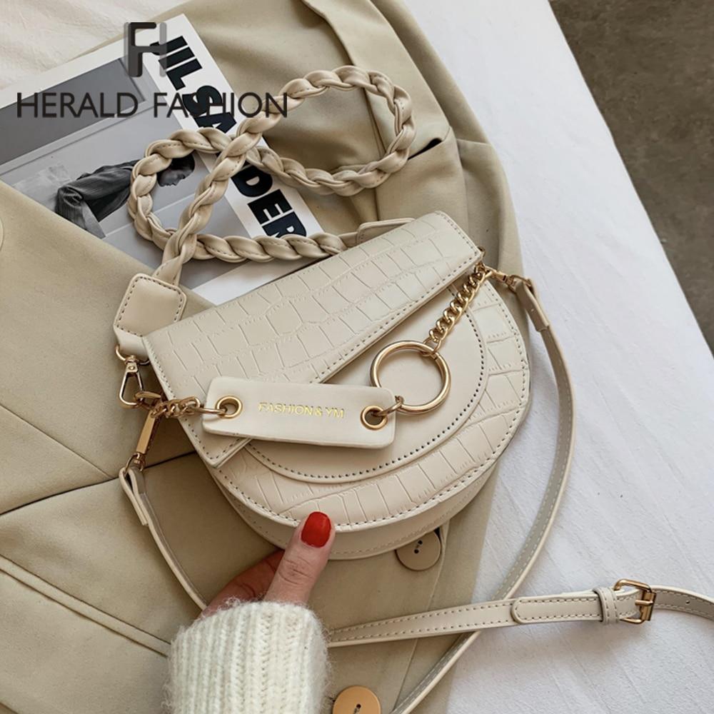 Crossbody Bags For Women 2021 Luxury Brand Crocodile Semicircle Saddle Bags Leather Handbags Bags Designer Ladies Shoulder Bags