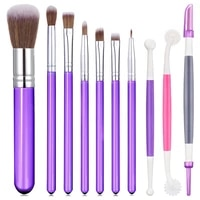 10 pieces cookie decoration brushes set cake baking brushes cookie decorating supplies food paint brush for chocolate