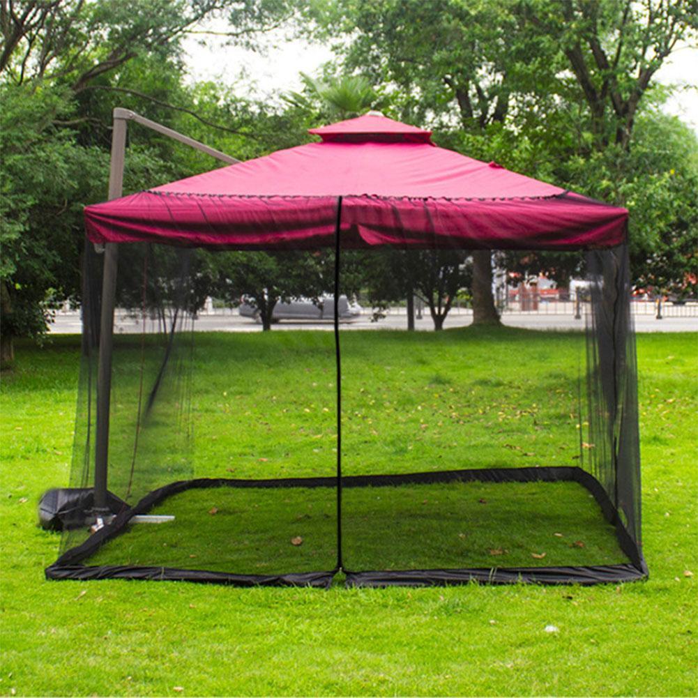Уличная москитная сетка, крышка зонтика для патио, москитная сетка, экран, устойчивая к УФ-излучению москитная сетка, москитная сетка для ке...