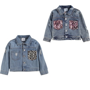 Kids Denim Jacket Girl Coats 2021 New Children Clothing Autumn Spring Baby Girls Clothes Outerwear Jean Fashion Jackets 1-6Years