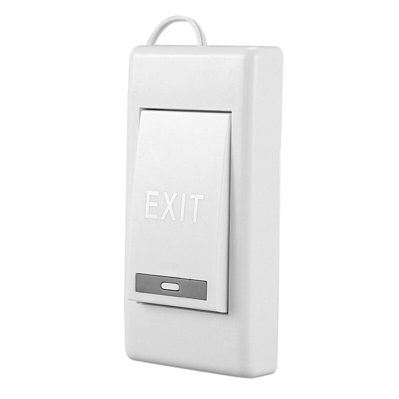 Panel de botón de liberación de salida para puerta eléctrica blanco