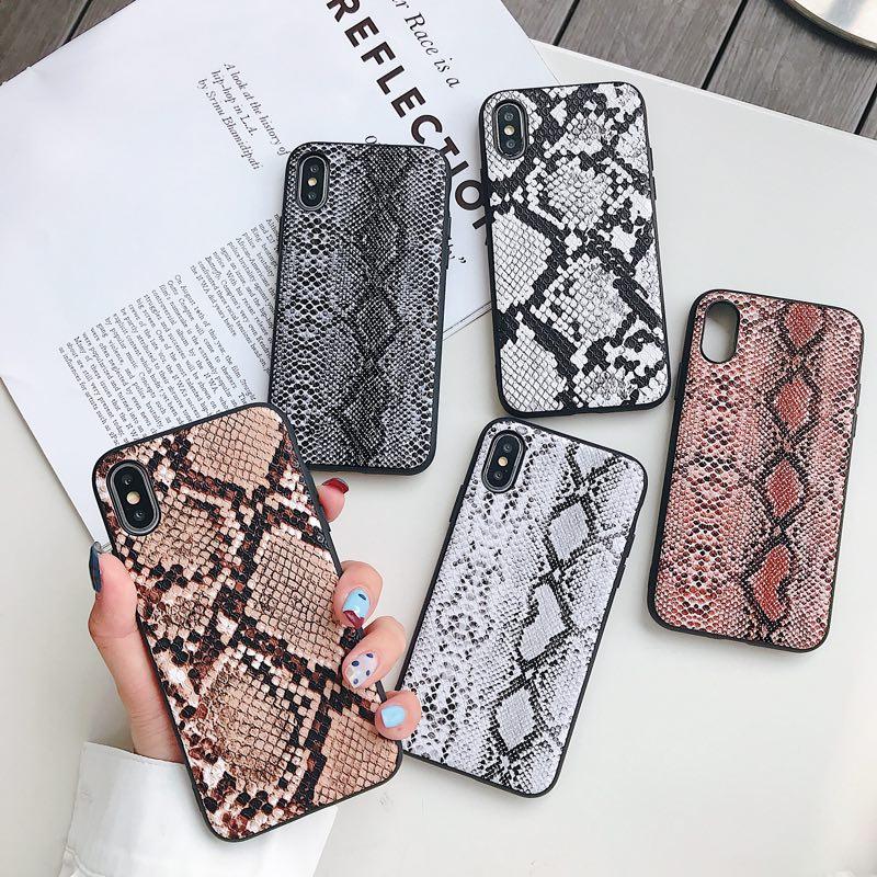 Coque de téléphone en peau de serpent rétro pour SAMSUNG S9 NOTE 10 PLUS coque de téléphone rigide pour xiaomi note 7 pro coque de protection Fundas