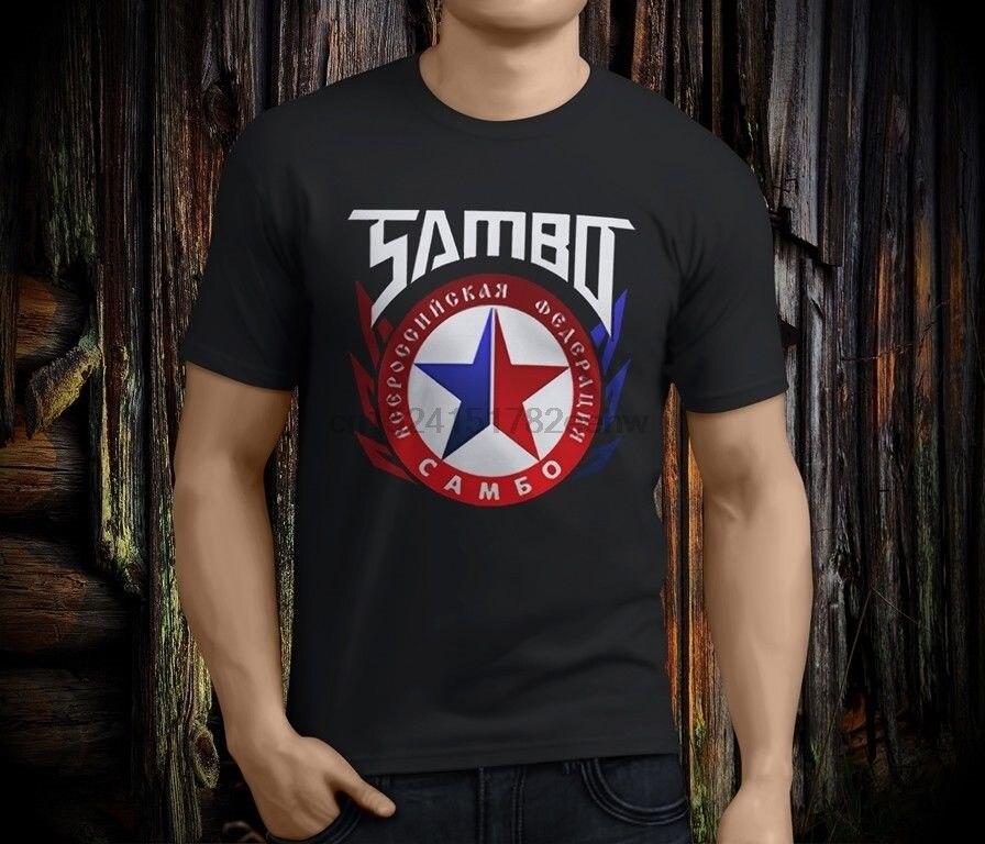 Camiseta negra Fedor de la Federación Rusa de lucha libre Sambo para hombres marciales, camiseta de talla S-3XL para hombres, oferta barata 100 de algodón