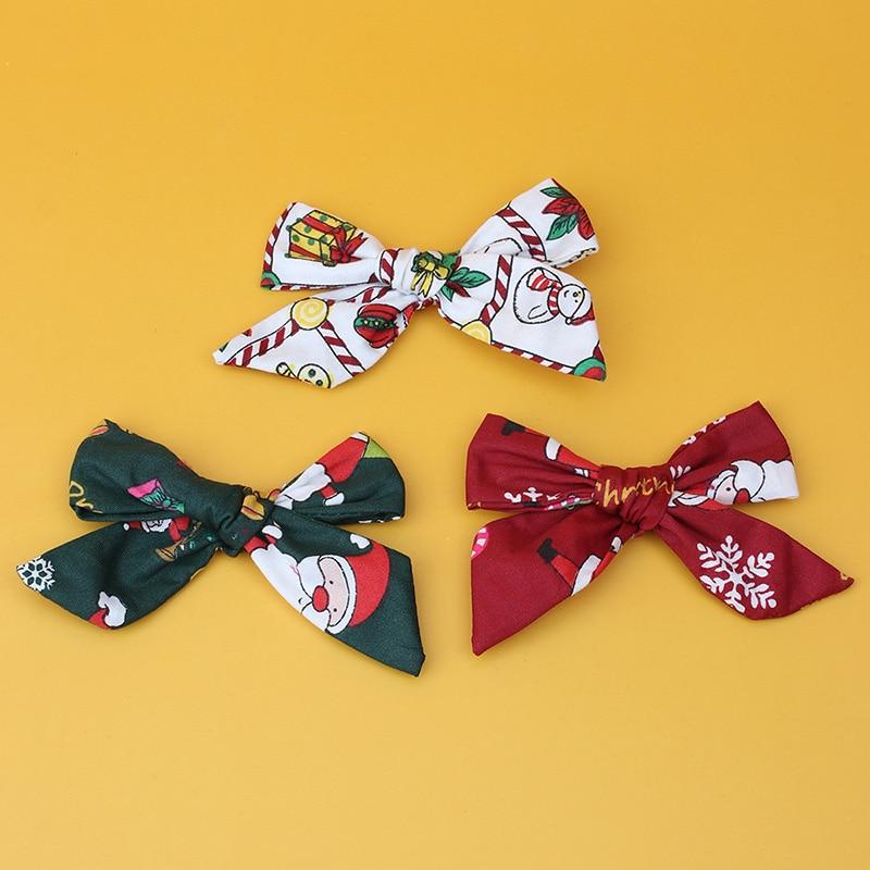 Pinzas para el pelo con lazo de Navidad para niñas pequeñas, pasadores...