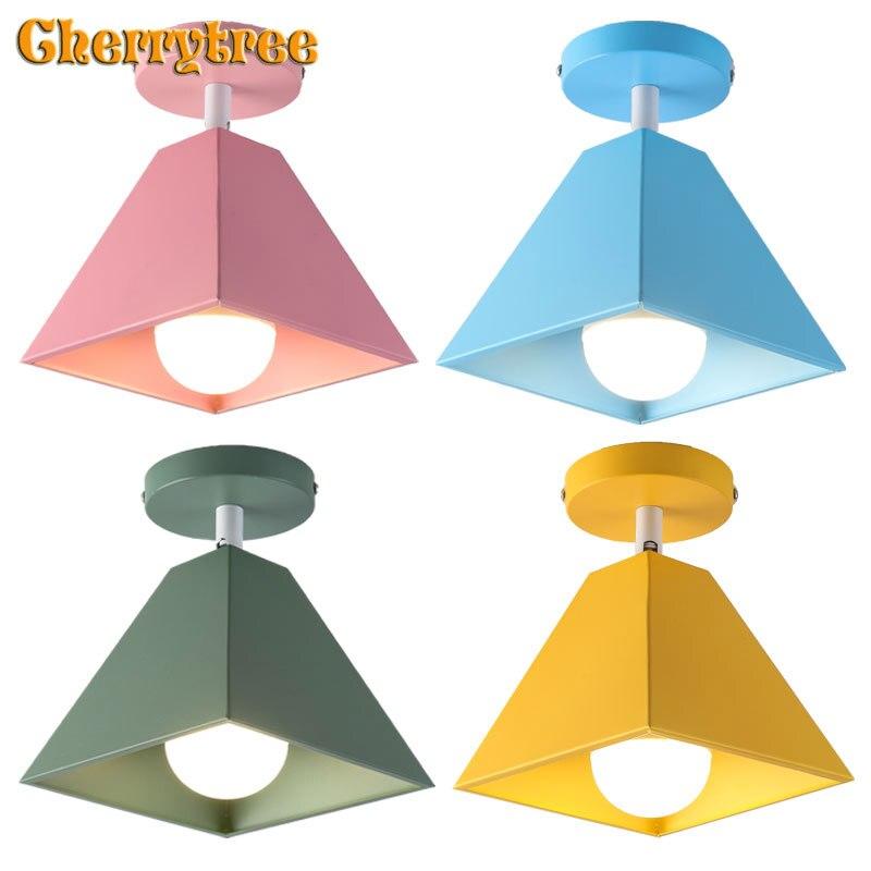 Lámparas de techo, modernas lámparas de techo nórdicas, de colores para lámparas de decoración de loft sala de estar, dormitorio, habitación, cocina, accesorios de iluminación led